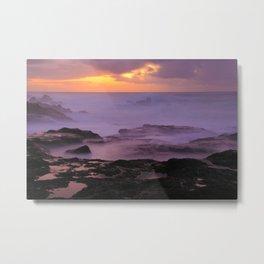 Seascape at sunset Metal Print
