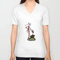 jack skellington V-neck T-shirts featuring Christmas Nightmare Jack Skellington by Inara