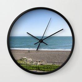Greystones beach in Ireland Wall Clock