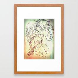 Self destruction Framed Art Print