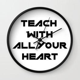 School Teacher Teaching Gift Wall Clock