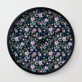 Golightly Flowers Wall Clock