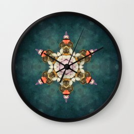 butterfly Medallion Wall Clock
