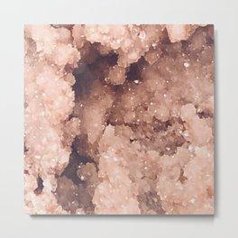 Rose Colored Geode Metal Print