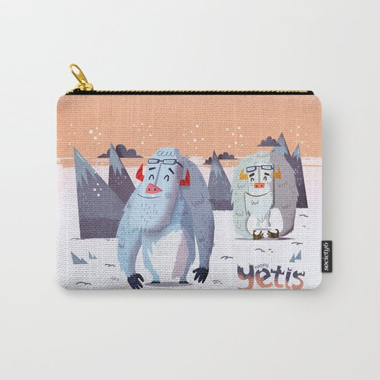 :::Happy Yetis::: Carry-All Pouch