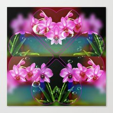 Charming Orchids Canvas Print