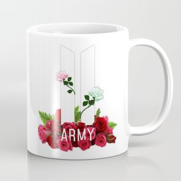 BTS Army Roses Coffee Mug