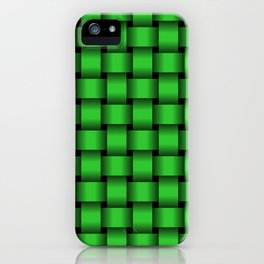 Lime Green Weave iPhone Case
