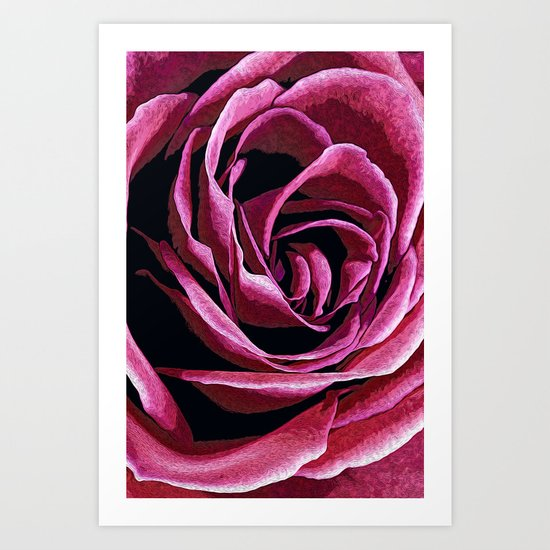 Rose Sketch Art Print