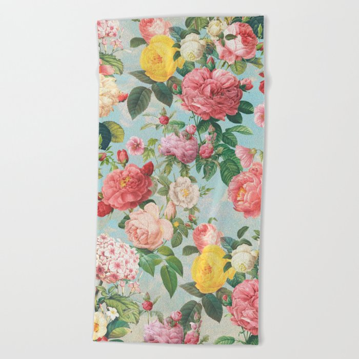 Floral B Beach Towel