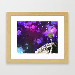 Lady in Space II Framed Art Print