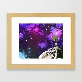 Lady in Space II Framed Art Print