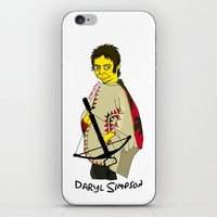 simpson iPhone & iPod Skins featuring Daryl Simpson by sara banu