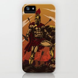 Spartan Warrior Triumphs Over His Enemies iPhone Case