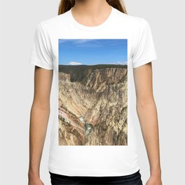 Yellow Rocks Of Yellowstone River Valley T-shirt