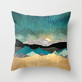 Peacock Vista Throw Pillow