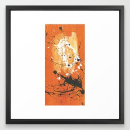 orange sky Framed Art Print