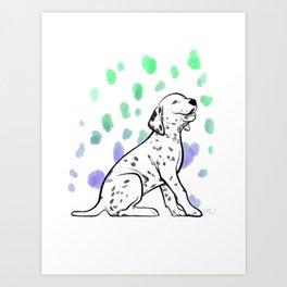Dalmatiner Puppy Art Print