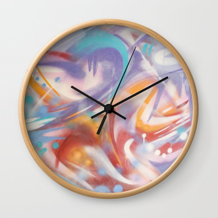 It's Nice here - abstract art - abstract impressionism - urban art - street art - graffiti Wall Clock