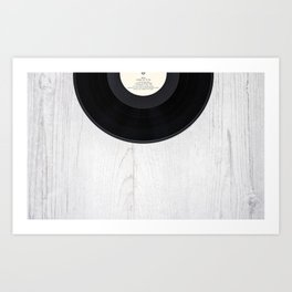 Black vintage vinyl record Art Print