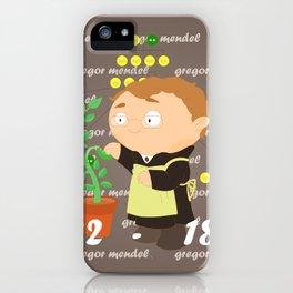 Gregor Mendel iPhone Case