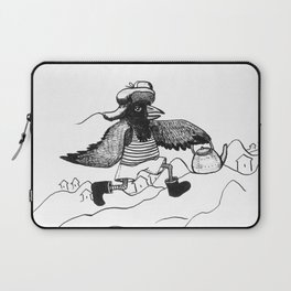 A Raven with a strict wife Laptop Sleeve