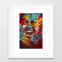 jack nicholson Framed Art Prints featuring jack nicholson  by zarna