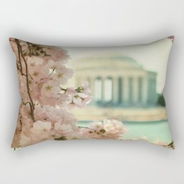 DC Cherry Blossoms Rectangular Pillow
