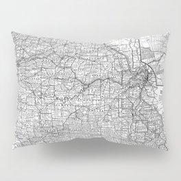 Vintage Map of Missouri (1891) BW Pillow Sham