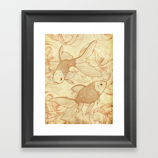 Vintage Goldfishes  Framed Art Print