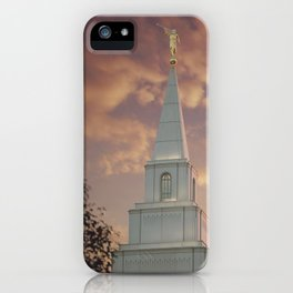 Sunset at Kansas City Temple iPhone Case