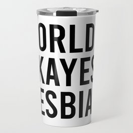 World's Okayest Lesbian Travel Mug