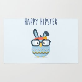 Happy Hipster Easter Rug