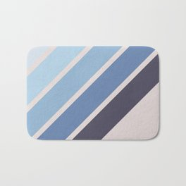 Blue Color Drift Bath Mat