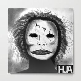Broken Face Metal Print
