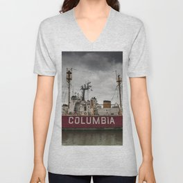 The Lightship Columbia Unisex V-Neck
