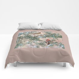 Winter Pair Cardinals (v) Comforters