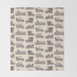 Antique German Automobiles Throw Blanket