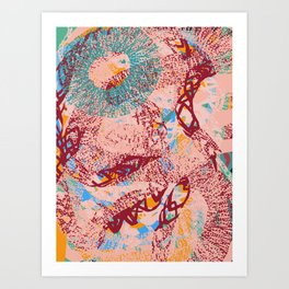 African Mystic Abstract Organic Pattern Art by Emmanuel Signorino Art Print