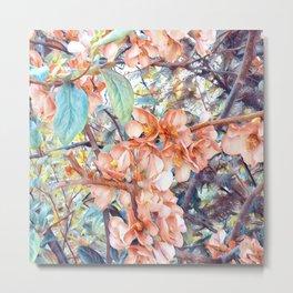 Aquarell Floral 05 Metal Print