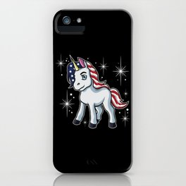 Americorn   Patriotic Unicorn Independence Day USA iPhone Case