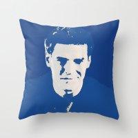 buffy the vampire slayer Throw Pillows featuring Angelus - Buffy the Vampire Slayer by Laura