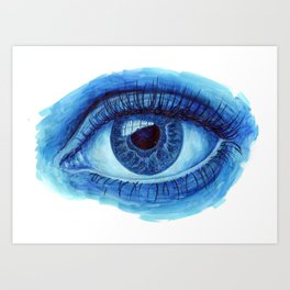 Blue Eye Art Print