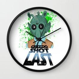 Greedo Shot Last Wall Clock