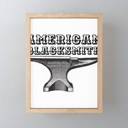American  Blacksmith Anvil Blacksmithing Framed Mini Art Print
