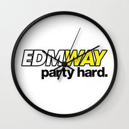 EDMWAY Party hard (Black) Wall Clock