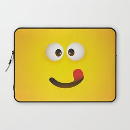 Smiling Emoji with Stuck Out Tongue Laptop Sleeve