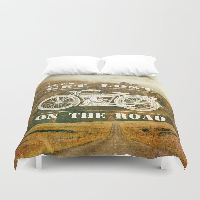 Get Lost On The Road Duvet Cover