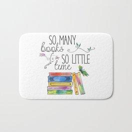So Many Books, So Little Time Design Bath Mat