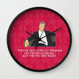 A Study in Pink - Greg Lestrade Wall Clock